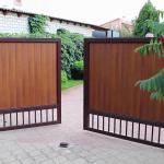 Откатные и распашные ворота (39)